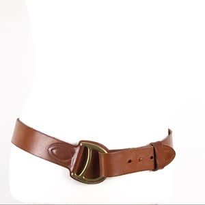 Ralph Lauren Equestrian Tan Leather Belt